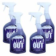 Wipe Out 6012-02 All Purpose Surface Cleaner For Swimming Pools 1-quart 4-pack