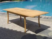 7-pc Outdoor Teak Dining Set 94 Rectangle Extension Table 6 Arm Chair Maldives