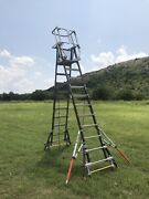 Little Giant 18515-240 Aerial Safety Cage Ext Ladder 8'-14' Iaa W/ Wheel Lift