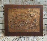 Antique Hand Hammered Copper Dog Wall Art Repousse Arts And Crafts Movement
