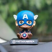Captain America Bobble Head Action Figure Car Cell Phone Holder Accessories