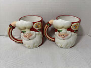 Santa Coffee Mugs By Home Interiors China Food Safe Microwave And Dishwasher Safe