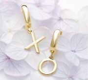 Initial Earrings Award Winning 14k Yellow Rose Or White Gold Quality A To Z
