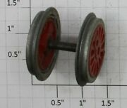 American Flyer Xa14a602-a2 Franklin/washington Engine Flanged Red 2 Wheel And Axle