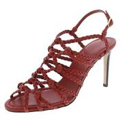 Paul Andrew Womens Whos That Leather Almond Toe Strappy Sandals Heels Bhfo 7049
