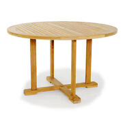 60 Round Table - A Grade Teak Wood Garden Outdoor Dining Furniture Pool Patio