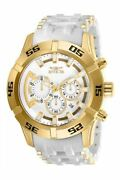 26536 50mm Sea Spider Chronograph Gold Case White Dial Watch New In Box