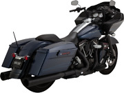 Vance And Hines Black Exhaust 4 1/2 Slip On Mufflers 95-16 Harley Touring Bagger