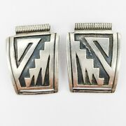Native American Jewelry Hopi Overlay Watch Cuffs Sterling Silver 925 Unsigned