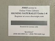 Signing Naturally Online Video Access Code Units 1-6 - 1 Year