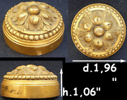 Antique Ornate Gilt Solid Bronze Push Bell Table Or Door Bell Button Ringer