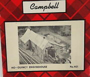Campbell Scale Models 401-2495 Ho Scale Quincy Enginehouse Building Kit