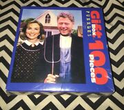 President Bill And Hillary Clinton Puzzle Arkansas Gothic 100 Pc Sealed New Fink