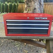 Vintage 1990's Craftsman 3 Drawer Middle Tool Box Mid Intermediate Chest Usa