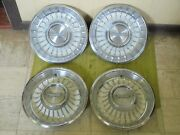 1962 Cadillac Hub Caps 15 Set Of 4 Caddy Wheel Covers Hubcaps 62 White