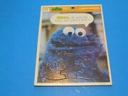 Whitman Frame Tray Puzzle Sesame Street Cookie Monster 12 Pieces Vintage 1977