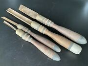 Antique Buck Bros Brothers Woodworking Crafting Tools Lot 4 Carpentry Chisels