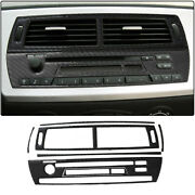 7pcs Central Air Outlet Without Navigation Radio Panel Stickers For 03-08 Bmw Z4