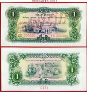 Laos - 1 Kip Nd 1968 Specimen - P 19a - Unc Free Shipping From 75.00 Euros