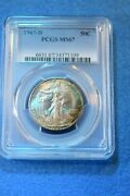 1947-d Walking Liberty Half Dollar Pcgs Certified Ms--67 Incredible Coin 25