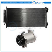 Ac Condenser And Ac Compressor Cooling Kit For 02-06 Nissan Altima 04-07 Maxima