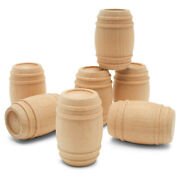 Wood Pickle Barrel 1-5/8 Inch For Miniature Scale Model, Toy Train| Woodpeckers