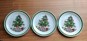 3 Yamaka Japan Christmas Tree Gifts Dishes Noel Sy - 6243 7 1/2 Plate Saucer