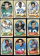 1970 Topps Football Complete Set 5 - Ex