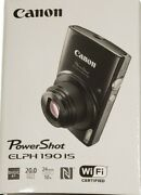 Canon Powershot Elph 190 Is Digital Camera With 10x Optical Zoom And Wi-fi Blue
