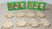Nice Lot Of 8 Pc Vintage Brio Wooden Railway Short Curved Switches W/boxes 33350