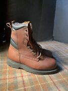 Red Wing 2264 Brown Leather Steel Toe Work Boots Mens Sz 8 E3 Extra Wide Usa