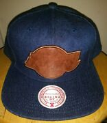 Lakers Leather Patch Denim Hat Kobe Jean Cap Lebron Snapback Mitchell And Ness New