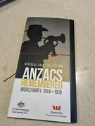 Official Coin Collection Anzacs Remembered 15 Coin Set 2015 Red Poppy
