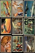 1951 Bowman Jets Rockets And Spacemen Almost Complete Set 3 - Vg