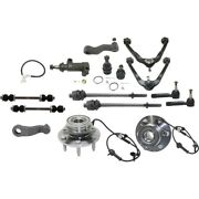 Set Of 15 Control Arm Suspension Kit Front Left-and-right For Chevy Avalanche