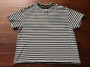 Nike Cj3570 010 Womenand039s Black White Striped Embroidered Peace Sign T-shirt Xl