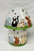 Yankee Candle Cat Tales Large Candle Jar Holder Shade Topper