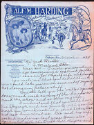 1929 Coldwater Ks - Wild West Show And Rodeo - Alf M Harding - Letter Head History