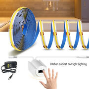 Cob Led Strip Dc12v With Hand Sweep Sensor Switch Control For Kitchen Cabinet