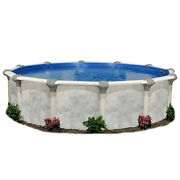 Embassy Pool Co Tahitian 12 Foot Hard Side Resin Frame Pool Package For Parts