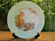 Vintage Shelley Scenic Plate 10 3/4 Heather Pattern Rare
