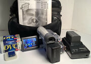 Panasonic Pv-gs15 Mini Dv Camcorder With Charger, Battery, Sd Card, New Tapes