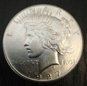 1927 P Peace Silver Dollar - Better Date - Nice Coin - Free Shipping