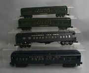Williams O Gauge Baltimore And Ohio And Pullman Madison Style Passenger Cars [4]