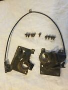 1970-76 C3 Corvette Original Female Hood Latches Catches With Cable And Bolts