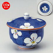 Set Of 10 Sencha With Lid Pumping Out Flower 8cm 170cc 190g Cup Dose Popularity