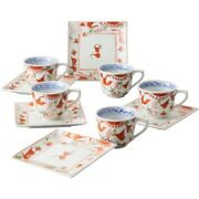 Sets Of Bulk Purchases Dream 10 000 History Kusa Flower Crest Coffee Bowl Square