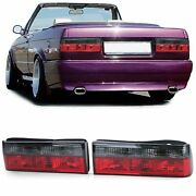 Smoked And Red Tail Lights For Bmw E30 1983-8/1987 + Cabrio Pre-12/1990 + M3