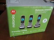 Motorola Cd4013 Cordless Phone With Answering Machine And Call Block, 3 Handsets