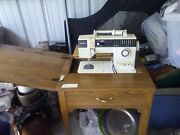 Vintage Singer Model 7028 Sewing Machine And Sewing Table